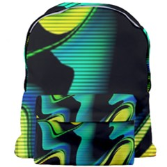 Hot Abstraction With Lines 4 Giant Full Print Backpack by MoreColorsinLife