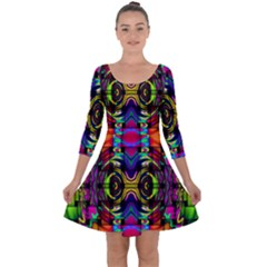 Quarter Sleeve Skater Dress by ArtworkByPatrick
