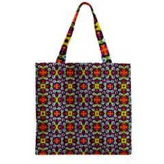 Pattern 28 Zipper Grocery Tote Bag by ArtworkByPatrick