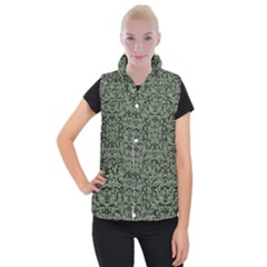 Camouflage Ornate Pattern Women s Button Up Vest by dflcprints
