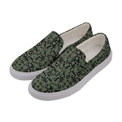 Camouflage Ornate Pattern Women s Canvas Slip Ons by dflcprints