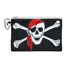 Pirate  Canvas Cosmetic Bag (large)