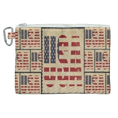 Usa Canvas Cosmetic Bag (xl) by ArtworkByPatrick