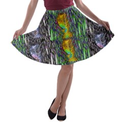 May Be A Woman In Manga Fire A-line Skater Skirt by pepitasart