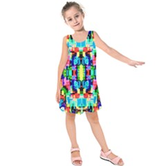 Artwork By Patrick--colorful-1 Kids  Sleeveless Dress