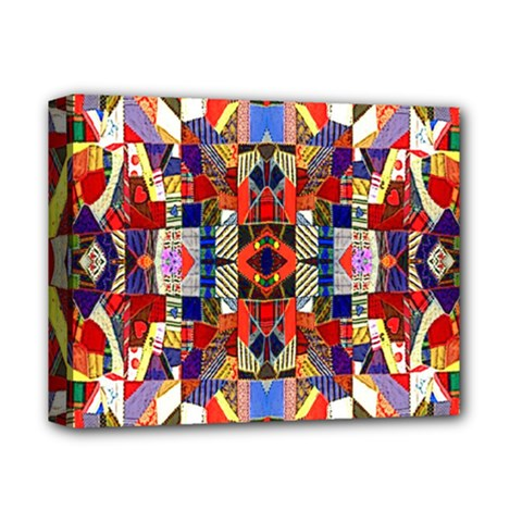 Pattern 35 Deluxe Canvas 14  X 11  by ArtworkByPatrick