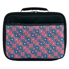 Squares And Circles Motif Geometric Pattern Lunch Bag