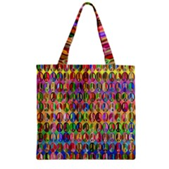 Peace Sign Zipper Grocery Tote Bag by ArtworkByPatrick