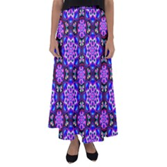 Colorful 3 Flared Maxi Skirt