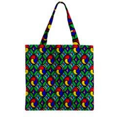 Colorful 4 Zipper Grocery Tote Bag by ArtworkByPatrick