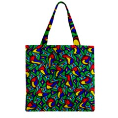Colorful 4 1 Zipper Grocery Tote Bag by ArtworkByPatrick
