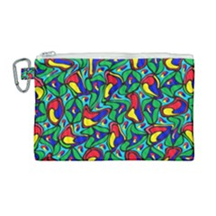 Colorful 4 1 Canvas Cosmetic Bag (large) by ArtworkByPatrick
