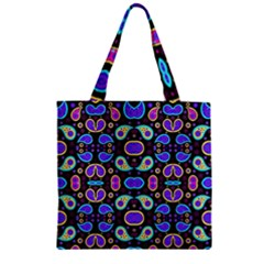 Colorful 5 Zipper Grocery Tote Bag by ArtworkByPatrick