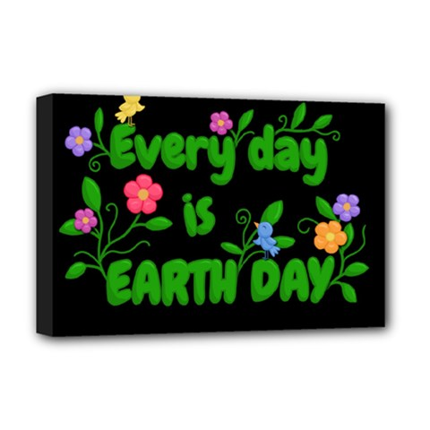 Earth Day Deluxe Canvas 18  X 12   by Valentinaart