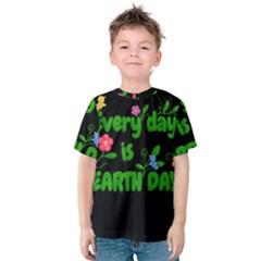 Earth Day Kids  Cotton Tee by Valentinaart