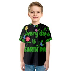 Earth Day Kids  Sport Mesh Tee by Valentinaart