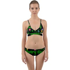 Earth Day Wrap Around Bikini Set