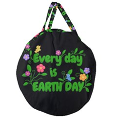 Earth Day Giant Round Zipper Tote by Valentinaart