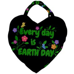 Earth Day Giant Heart Shaped Tote by Valentinaart