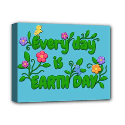 Earth Day Deluxe Canvas 14  X 11