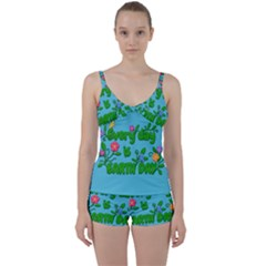 Earth Day Tie Front Two Piece Tankini