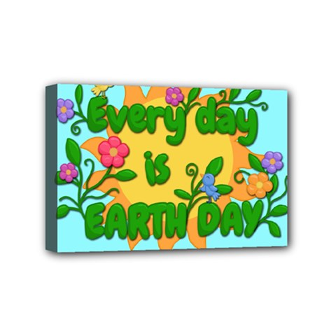 Earth Day Mini Canvas 6  X 4  by Valentinaart