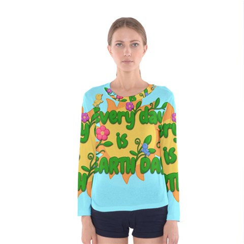 Earth Day Women s Long Sleeve Tee by Valentinaart