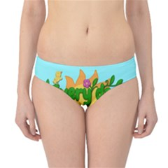 Earth Day Hipster Bikini Bottoms by Valentinaart