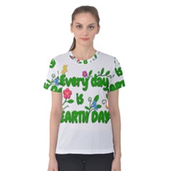 Earth Day Women s Cotton Tee by Valentinaart