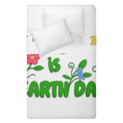 Earth Day Duvet Cover Double Side (single Size)
