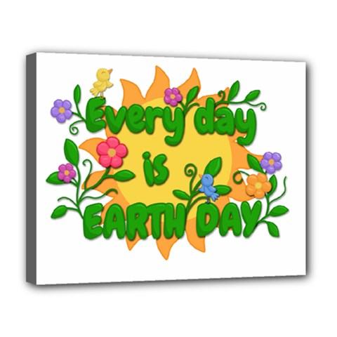 Earth Day Canvas 14  x 11