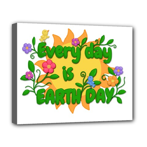Earth Day Deluxe Canvas 20  x 16
