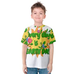 Earth Day Kids  Cotton Tee