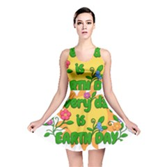 Earth Day Reversible Skater Dress