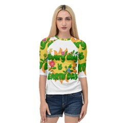 Earth Day Quarter Sleeve Raglan Tee