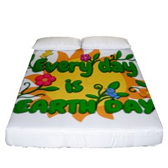 Earth Day Fitted Sheet (California King Size)
