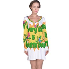 Earth Day Long Sleeve Nightdress