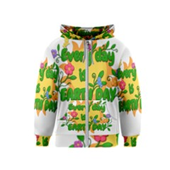 Earth Day Kids  Zipper Hoodie