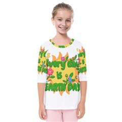 Earth Day Kids  Quarter Sleeve Raglan Tee