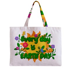 Earth Day Zipper Mini Tote Bag