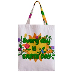 Earth Day Zipper Classic Tote Bag