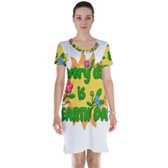 Earth Day Short Sleeve Nightdress