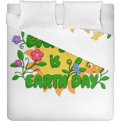 Earth Day Duvet Cover Double Side (King Size)