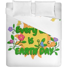 Earth Day Duvet Cover Double Side (California King Size)