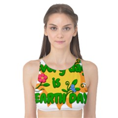 Earth Day Tank Bikini Top