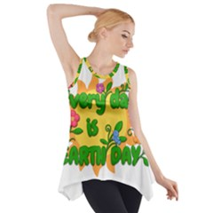 Earth Day Side Drop Tank Tunic