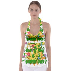 Earth Day Babydoll Tankini Top