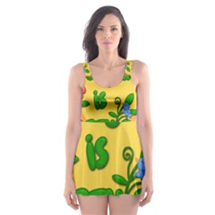 Earth Day Skater Dress Swimsuit