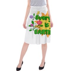 Earth Day Midi Beach Skirt