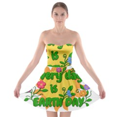 Earth Day Strapless Bra Top Dress